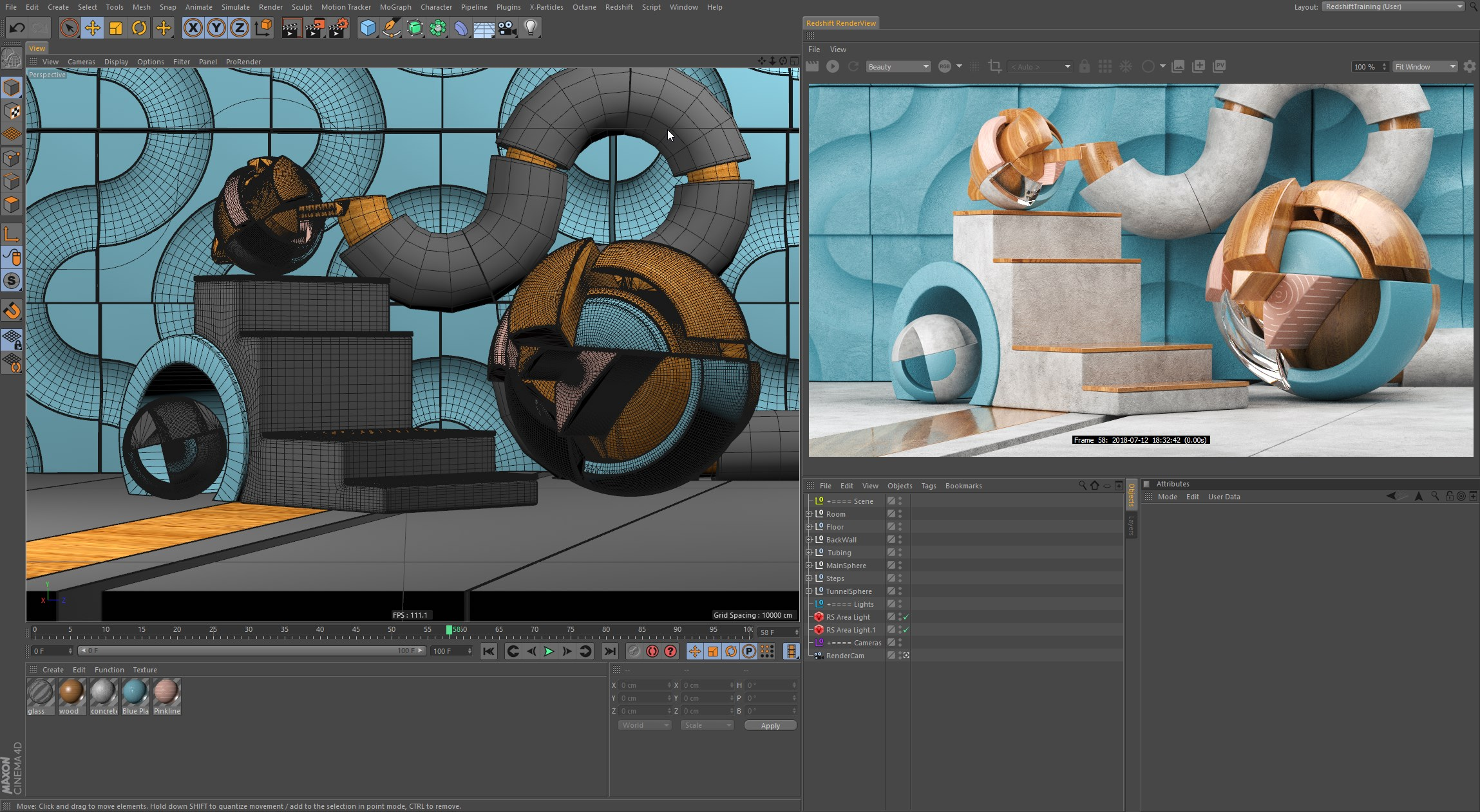rendering with redshift