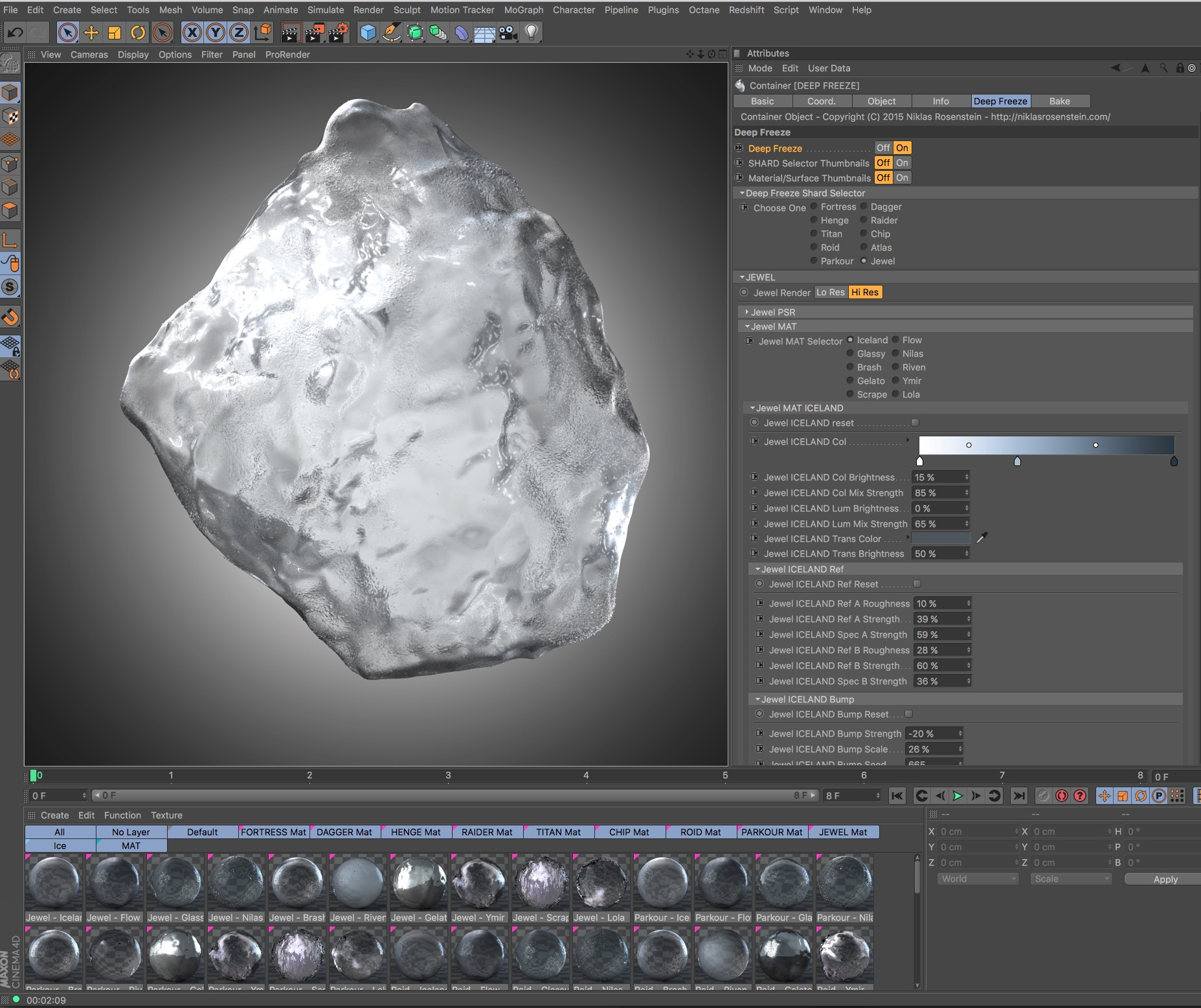 Deep Freeze for Cinema 4D from helloluxx by Dan Couto